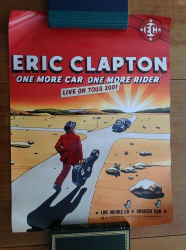 Vintage Eric Clapton EC Comic Poster One More Car One More Rider Poster