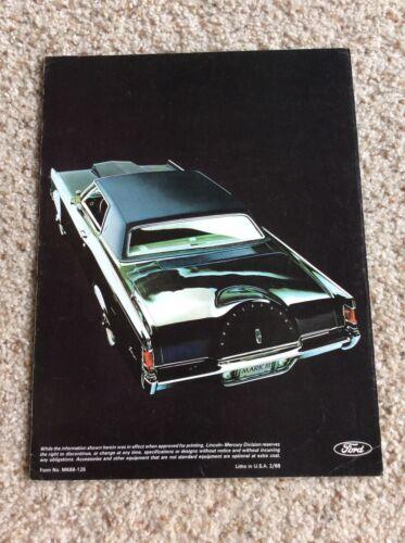 1968 Lincoln Mark-III  original dealership sales literature.