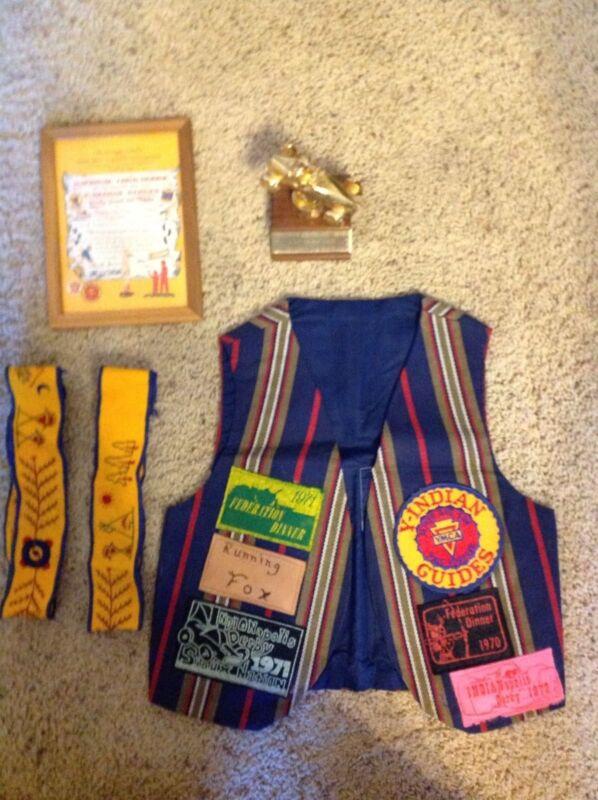 Indian Guides Vest, Trophy, Headbands, Plaque