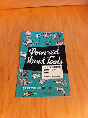 Vintage 1959 Craftsman Powered Hand Tools booklet - Midwest Technical Publisher*