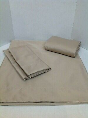 Queen Sheets Northern Nights 600TC 100% Cotton Cooling Sheet Set Taupe