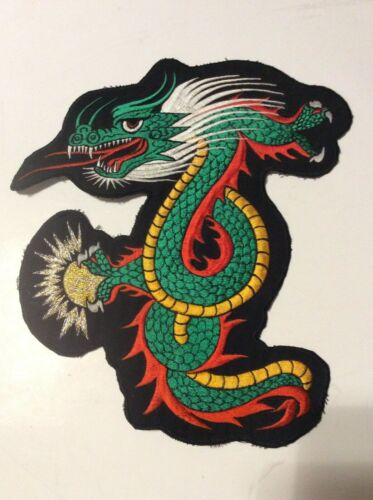 DRAGON PATCH LARGE 11 inches X 10 inches XL FOR JACKET OR SHIRT