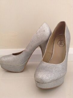 Silver Glitter Heels Warners Bay Lake Macquarie Area Preview