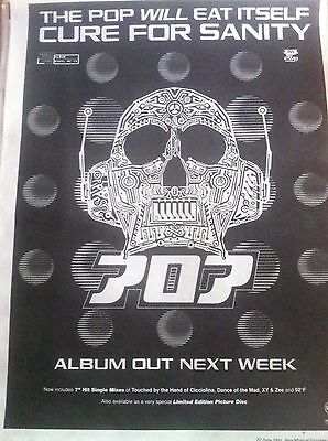 < POP WILL EAT ITSELF - CURE FOR SANITY - FULL PAGE ADVERT small poster PWEI