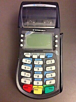 Hypercom Optimum T4220 Credit Card Processing Terminal Machine Black No Ac Cord