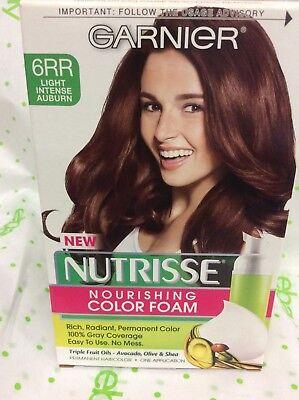 Garnier Nutrisse Nourishing Color Foam 6RR Light Intense Auburn Hair Color NEW. ()