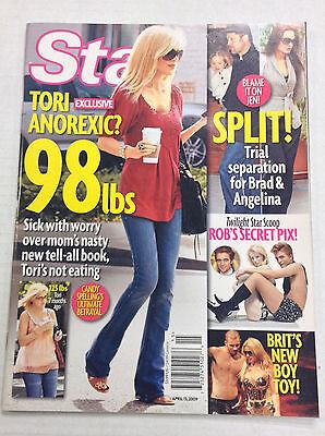 Star Magazine Tori Spelling   Brad Pitt April 13  2009 122016R2