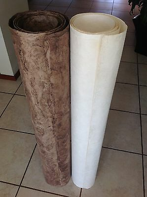 """Amate Bark Paper Solid Style 1 sheet """"Roll"""" of 47.25 x 94.48 inches in Size."""