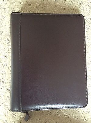 Classic Franklin Quest Covey Burgundy Leather 12 Pg Zip Planner Binder5.5x8.5