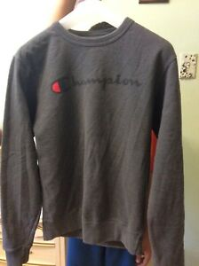 Grey champion sweatshirt
