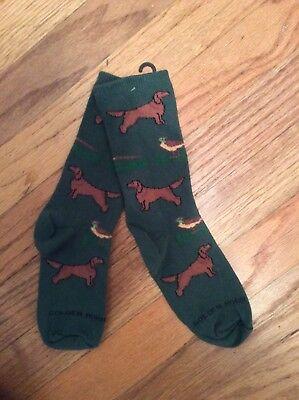 AKC dog breed Irish setter hunt bird dog novelty socks