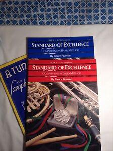 Three EFlat Alto Saxaphone Music books