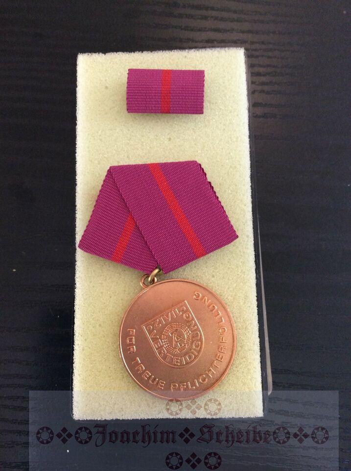 Medaille für treue Pflichterfüllung in der Zivilverteidigung,DDR in Elstra