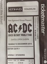 ACDC Etihad Stadium Melbourne Sunday 6th December Maiden Gully Bendigo City Preview