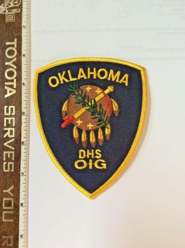 Vintage Oklahoma HS OIG Police Shoulder Patch New