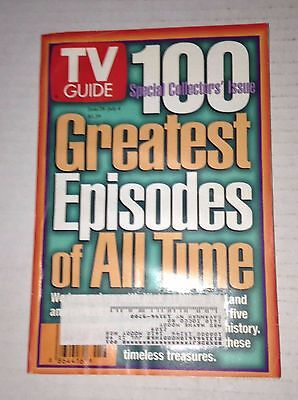Tv Guide Magazine 100 Greatest Episodes Of All Time June 28-July 4 1997 (Tv Guides 100 Greatest Episodes Of All Time)