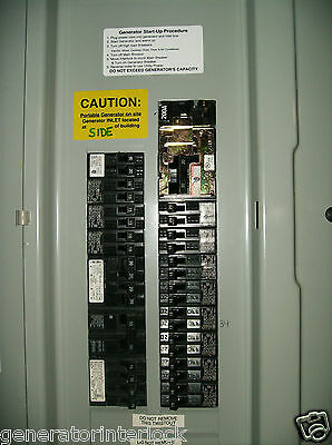 Fac-mur200r Murray Siemens Generator Interlock Kit 150 200 Amp Panel Listed