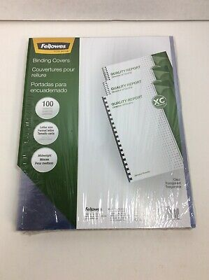 Fellowes Crystals Presentation Covers Letter Size Clear 25pack 52043