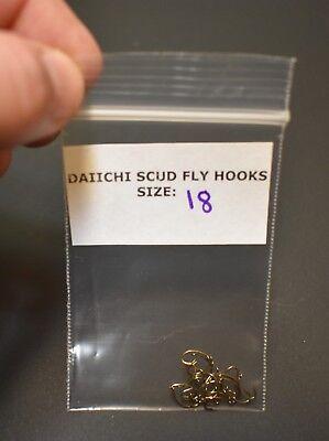 Pack of 25,  Daiichi 1130 Size 18, Scud Fly Tying Fishing Hooks