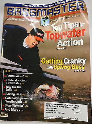 Bassmaster Magazine Tips For Topwater Action April 2004 042617Nonr2
