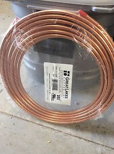 50' of copper tubing for AC * 2