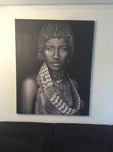 African paintings x 2 (170cms x 130cms ) professionally stretched !! Malvern Stonnington Area Preview