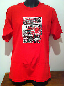 THE-ATARIS-Postcards-Logo-Red-T-SHIRT-NEW-OFFICIAL-MERCHANDISE-Size-LARGE-Rare