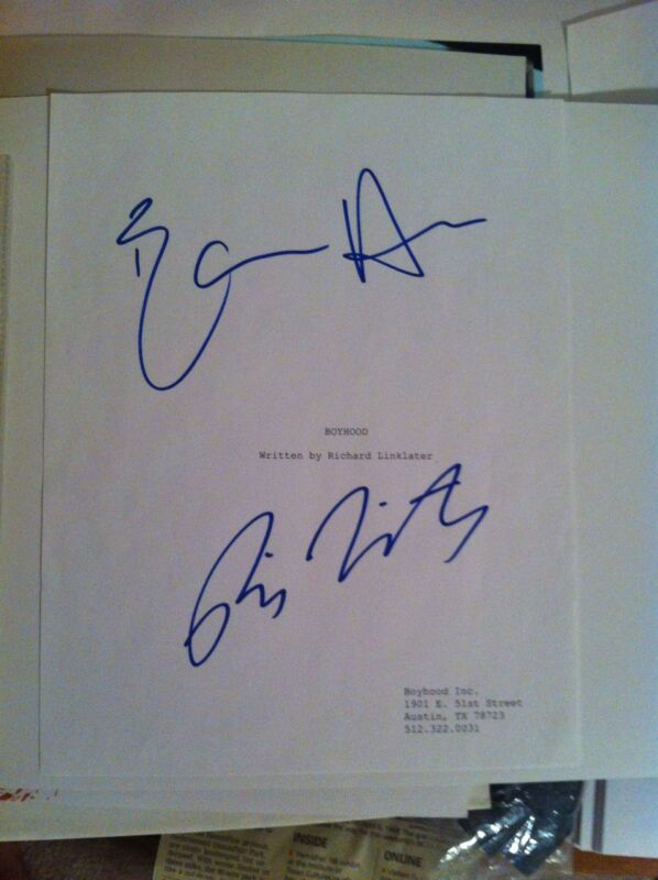 BOYHOOD CAST SIGNED AUTOGRAPED SCRIPT ETHAN HAWKE RICHARD LINKLATER
