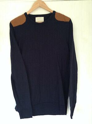 River Island Mens Sweater Jumper Medium Navy Blue