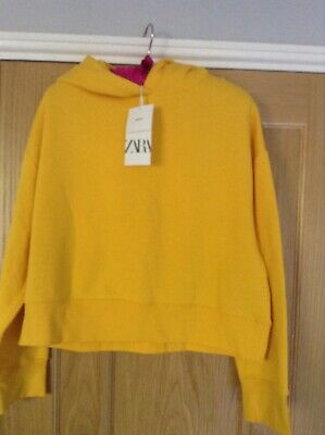Zara Yellow Sweatshirt Brand New Size Large