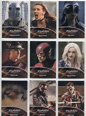 The Flash Season 2 Complete Metas Chase Card Set MT1-9