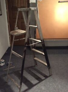 5' folding aluminum step ladder