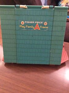 Vintage Fisher Price Little People A Frame house Strathcona County Edmonton Area image 2