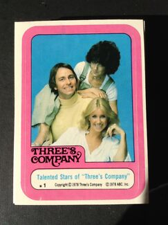 Threes Company Tv Series 1978 trading Card set