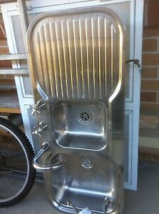 Stainless steel double sink Campsie Canterbury Area Preview