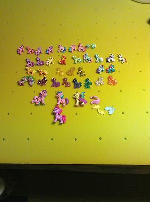 Lot Of Miniature My Little Pony Figurines 32 Plus 4 Snap And Build Ponies VGC