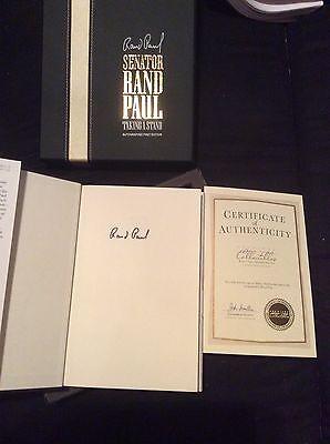 SENATOR RAND PAUL SIGNED AUTOGRAPHED TAKING A STAND BOOK! RARE! 2016!