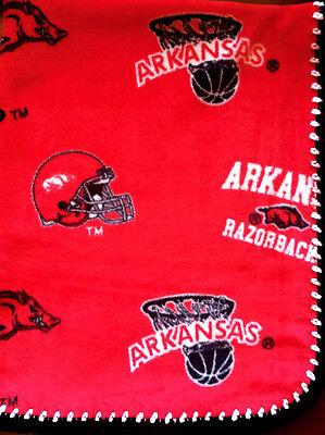 Arkansas Razorbacks Fleece Baby Blanket/Arkansas Baby Blanket/Fleece Blanket