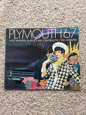 1967 plymouth  full line color sales catalogue,  overseas ed.