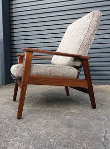 BLACKWOOD Mid Century Modern RECLINER Danish TV armchair RESTORED Bayswater Knox Area Preview