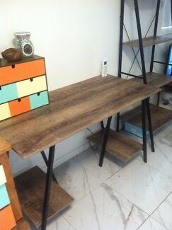Desk & bookshelf pair