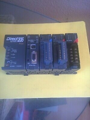 Koyo Direct Logic 205 Dl250-1cpu D2-16nd3-2 D2-16td2-2 D2-08tr Io Modules