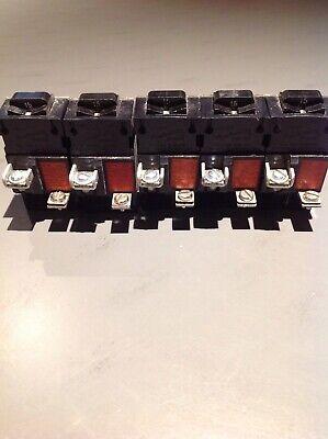 Pushmatic P115 1 Pole Circuit Breaker Lot Of 5