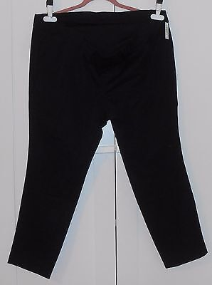 WOMEN'S OLD NAVY BLACK MATERNITY FULL-PANEL THE  PIXIE ANKLE PANTS - SIZE 16