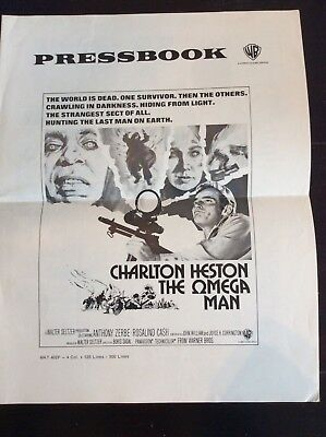OMEGA MAN int'l pressbook 1971 Charlton Heston is the last man alive