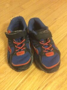 Little boy size 11 Saucony running shoes