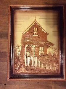 artwork by E K Del'Mace,THE COTTAGE,old Queenslander house. Ringwood East Maroondah Area Preview