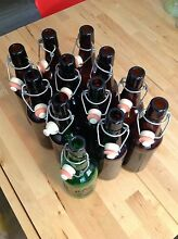Flip top beer bottles for home brew (Grolsch style) resealable 500mL Tanah Merah Logan Area Preview