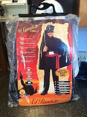 Wet Bandits Costume (RUBIES EL Bandido Mexican Bandit Wet Look Vinyl Fabric Costume Complete New)