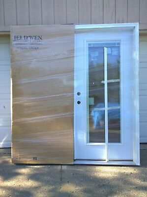 NEW: Premium Large STEEL Home DOUBLE French PATIO DOOR w Bui